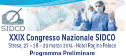 Dermatologo Torino - XXIX Congresso Nazionale SIDCO Stresa, 27 – 28 – 29 marzo 2014 - Hotel Regina Palace